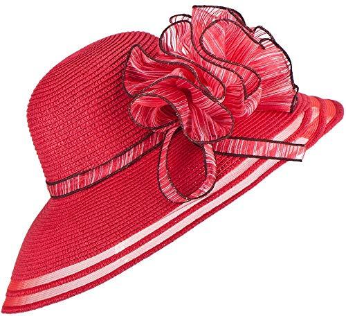 Pamelas De Playa Vestido De Mujer Iglesia Boda Kentucky Derby Sombrero De Playa De Verano De Paja De ala Ancha para Mujer A115