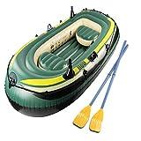 ACEWD Kayacs Hinchables 2+1 Plazas, Canoa Hinchable Piscina, Balsa Hinchable Pesca, Barca Hinchable con Remos,3 Person,B