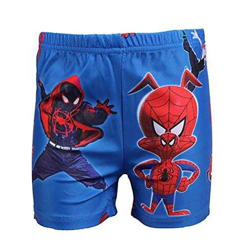 MYYLY Enfants Cosplay Maillot De Bain Vêtement Avenger Extérieur Spiderman Imprimé Été Plage Short Court Garçon Et Fille Rash Guard Ensemble,Blue-M Kids (140 CM)