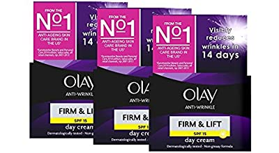 Olay Anti-Wrinkle Firm & Lift Day Cream SPF 15 50ml (Pack 3)