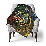 Hdadwy Harry Blanket Potter - Manta para bebé, unisex, suave y neutral, manta receptora para niños y niñas, 30 x 40 pulgadas