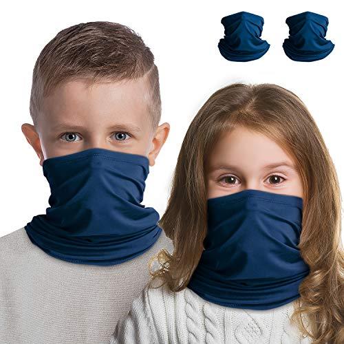 Halstuch, Gesichtsmaske, für Kinder, Bandana, Gesichtsmaske, atmungsaktiv, multifunktional, magisches Schild, Halstuch gegen Staub, Wind, Sonnenschutz für Männer und Frauen, Outdoor, Preußisches Blau