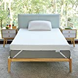 Novilla 2 Inch Gel Memory Foam Mattress Topper for Cooling Sleep & Pressure Relieving, Soft Twin Mattress Topper with Removable & Washable Bamboo Cover,Twin Size