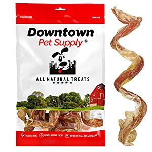 Downtown Pet Supply 5″ Curly Spiral Bully Sticks, Bully Springs for Dogs Made in USA – Regular Select Thick – Odorless Dog Chew Treats