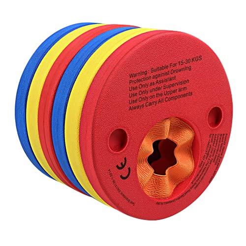 EVA Foam Swim Arm Band Float Aid Discs  6 pc Set for Kids Boys Girls Toddlers,...