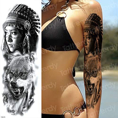 tzxdbh 3 Unids Impermeable Tatuajes temporales Hombres Old School ...