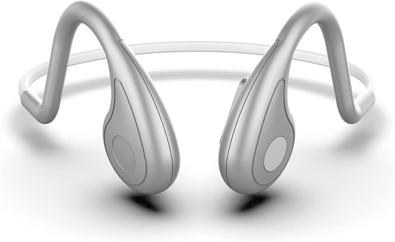 Vocalskull Auriculares deportivos con conducción ósea Bluetooth Auriculares inalámbricos con cancelación de ruido de oído abierto