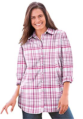 Woman Within Plus Size Perfect Button Down Shirt