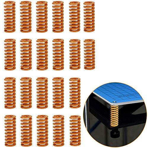 RUNCCI-YUN 22 Piezas Resortes de Compresión de Impresora 3D OD 0.31 Longitud 0.78 Resorte de compresión de carga liviana,muelles de compresión M3 para la impresora 3D Creality CR-10 10S S4 Ender 3