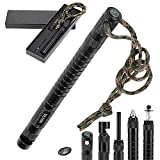 Unit Birthday Gifts for Dad Men Husband SULKADA 9 In 1 Survival Gear Kits with Fishing tool, Fire Starter, Whistle, Bottle Opener, Compass , for Out door Camping, Hiking, Hunting