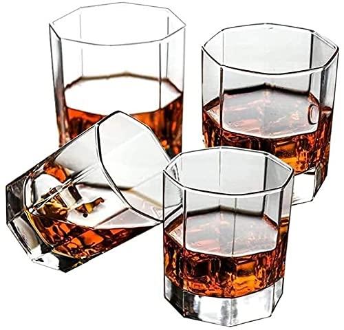 Casual Cócteles Taza 4-pc Vidrio Transparente Espesar Cerveza Vino Rojo Whisky Escocés Agua Fría Leche Jugo 7X8CM MUMUJIN