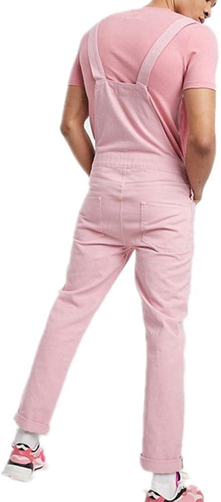 Fansu Peto Jeans Monos Hombres Denim Jeans Bib Overoles Pantal/ón Vaqueros de Mono para Hombre Pantalones de Bolsillo Rotos Mezclilla Jumpsuit Casual