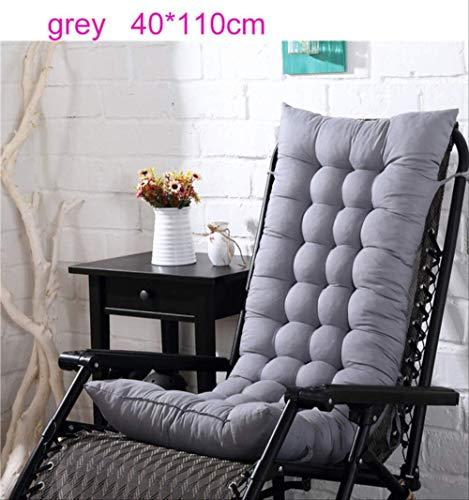 NoNo Solide lange kussens mat voor schommels rotan stoel Folding Dicktuin zon Lounge Seat kussen bank Tatami Mat 40x110cm grijs