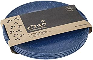 """EVO Sustainable Goods 8"""" Plate, Set of Four, Blue"""