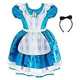 Disney Alice Costume for Girls – Alice in Wonderland, Size 5/6 Blue