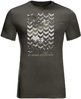 Jack Wolfskin Mens Chevron T-Shirt - Dark Moss - XXL