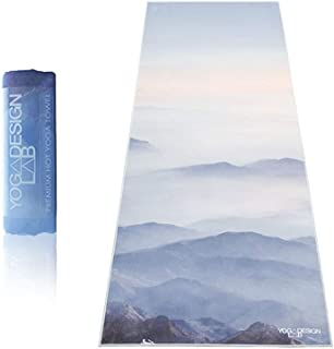 YOGA DESIGN LAB | The HOT Yoga Towel | Premium Non Slip Colorful Towel | Designed in Bali | Eco Printed + Quick Dry + Mat Sized | Ideal for Hot Yoga, Bikram, Ashtanga, Sport, Travel!