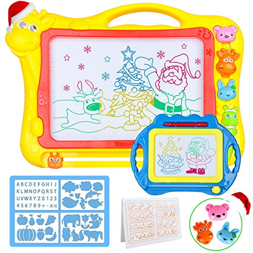 Magnetic Drawing Board for Kids - Large 17Inch Toddler Colorful Magna Doodle Pad with a Travel Size Etch Sketch Writing Board Pro with Magnet Pen, Child Education Learning Toys & Gifts for Boys Girls