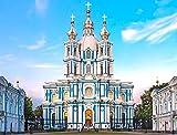Puzzle 1000 piezas-Catedral de San Petersburgo Juguete educativo de descompresión intelectual,Juegos Educativos de Puzzles-50 * 75cm