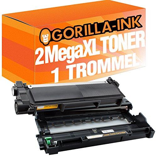 Gorilla-Ink 1 Trommel & 2 Toner Super-XL kompatibel mit Brother DR-2300 & TN-2320 L2300D L2340DW L2360DN L2365DW L2700DW L2700DN L2720DW L2740DW L2500D L2520DW L2540DN L2560DW L2700DW