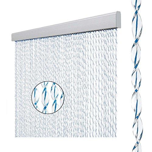 Arisol Türvorhang Sara, 100% PVC, 60x190 cm, weiß/blau