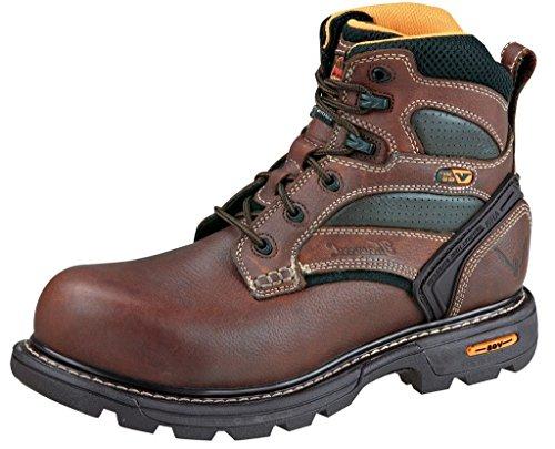 Thorogood メンズ Gen-flex2 6インチ プレーントゥ コンポジット安全つま先ブーツ US サイズ: 13 Wide カラー: ブラウン