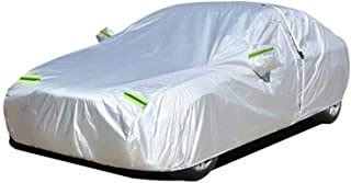 Car Cover Compatible with Citroen C4 C5 C4L C2 C3 XR Thickened Oxford Sunscreen Waterproof Silver Taffeta Thick Cotton (Color : Silver, Size : C5)