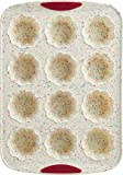 Trudeau Set of Two 12-Count Flower Muffin Silicone Pans, Confetti