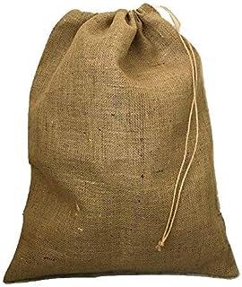 麻袋 巾着袋 口紐付 5枚セット サイズXL 48cm×62cm 麻土のう袋