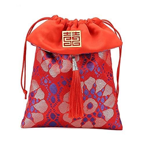 SODIAL Hochzeit Hochzeit Candy Bag Brokat Seide Kreative Pers?Nlichkeit Candy Box Lucky Bag Candy Bag Candy Bag, 10 StüCk, S-A