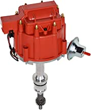 A-Team Performance Complete HEI Distributor 65K Coil Compatible with SBF Small Block Ford 260 289 302 5.0 One Wire Installation Red Cap