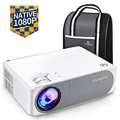 Projector 6800 Lumens, Native 1080p Projector Full HD, VANKYO Performance V630 Projector Home Theater, met 50°Elektronische correctie, ondersteunt HDMI USB TV Stick Xbox Laptop, iOS/Android Smartphone Projector*