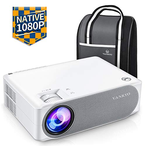 VANKYO Performance V630 Native 1080P Full HD Projector, 6500 LUX 300' LED...