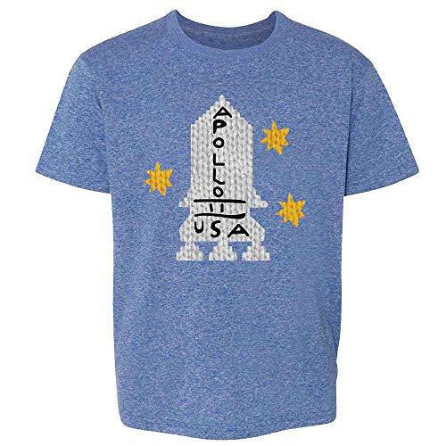Apollo 11 Retro Knit Sweater Style Costume Heather Royal Blue 2T Toddler Kids Girl Boy T-Shirt