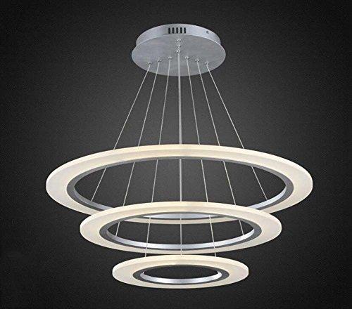 GJX Moderne/hedendaagse LED-hanger, acryl, minimalistisch, eetkamer, woonkamer, rond, modieus, creatief, hanglamp (kleur: Stepless Dimming, grootte: 60 cm x 80 cm x 100 cm)