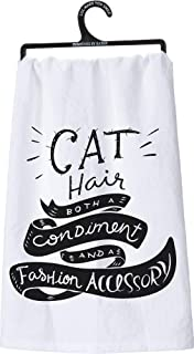Primitives by Kathy LOL Made You Smile, Tea Towel, cat Hair