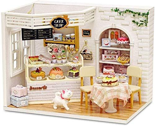 GQLB DIY Anime 3D-Modell DIY Cottage Kuchen Kreative Hand montiert Princess House Modellfamilie DIY kreativer Raum DIY Haus Micro-Möbel DIY Kabine Set DIY Anime 3D-Modell