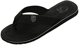 Casual Beach Sandals for Men, Huazi2 Comfort Flat Flip Flops Slippers Water Shoes