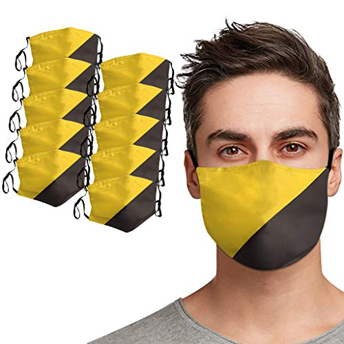899 Adult 3 Layer Nose & Mouth Covers Reusable Grey Cotton Cover Combo Extra Protection Unisex Fashion Wear Adult Men & Women (G, 5Pc)