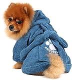 Doggy Dolly DRF019 Bademantel für Hunde, blau, Größe : XL - 4