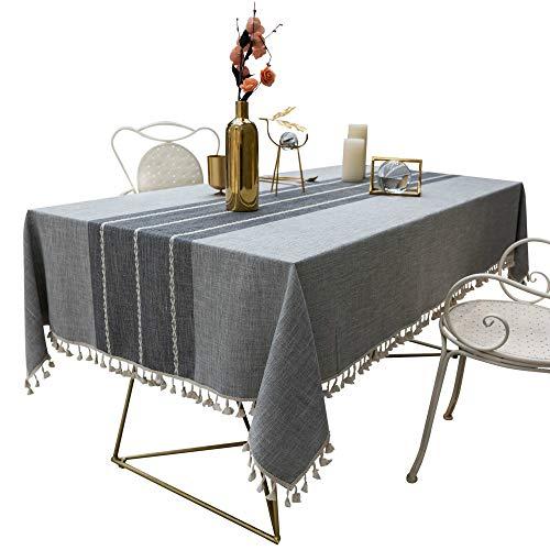 MENGHAO Mantel Algodon Lino Arte A Prueba De Polvo De Mesa De Cocina Mesa De Comedor Decoracion De Mesa De Mesa 140cm x 140cm C