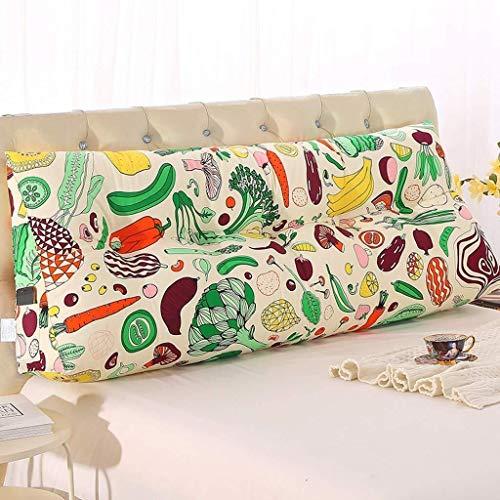 Dongy Triángulo de Noche Cojín Cama Tatami cojín Grande Volver cojín del sofá de la Cintura Almohada extraíble y Lavable (Color : B, Size : 100cm)