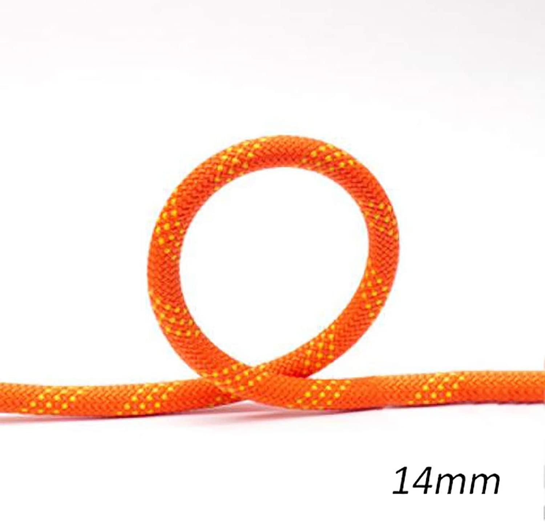 TLMYDD クライミングロープ、静電ロープ、スピードドロップロープ、空中作業径、14 mm、オレンジ ロープ (Size : 70M)