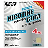 Rugby Nicotine Polacrilex Gum USP 4 mg 110 Each - Buy Packs and SAVE (Pack of 3)