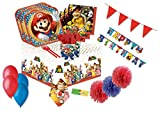 decorata party kit n 54 addobbi compleanno super mario run coordinato tavola festa