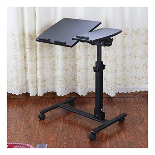 XJL Mesa de comedor plegable para portátil, multifuncional y práctico, ligero y flexible ajustable (color: negro)
