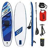 Tabla Hinchable Paddle Surf Azul con Asiento de Kajak Stand up Antideslizante 130Kg Accesorios incluidos Deporte acuático