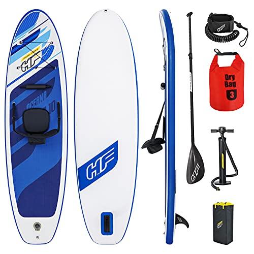 SUP Stand Up Paddle Board 120kg Drybag 305x84x12cm Kajak Sitz Surfboard aufblasbar iSUP Leash Paddel