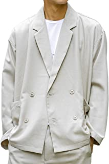 (アドミックス アトリエサブメン) ADMIX ATELIER SAB MEN メンズ ジャケット ポリトロ オーバーサイズ ダブル ジャケット 02-21-8278