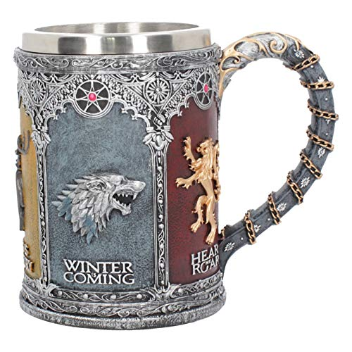 Nemesis Now B3700J7 Sigil Tankard Game of Thrones - Taza (20 cm, resina, con inserto de...